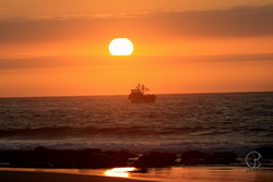 The sunsets in Mancora highlight the natural beauty of the Peruvian coast
